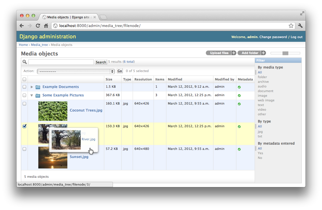 Django Media Tree Documentation — Django Media Tree 0.8.0 documentation